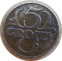 5 Groszy 1936 Polen Münzen