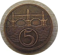 5 Heller 1925 Tschechien