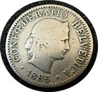 5 Rappen 1885 Schweiz Münzen swiss coins