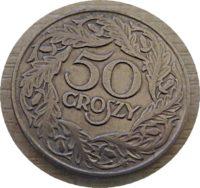 50 Groszy 1923 Polen Münzen