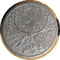 50 Heller Haleru 1941 Protektorat Böhmen und Mähren Tschechoslowakei