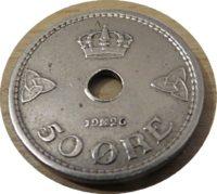 50 Öre 1926 Norwegen Münzen