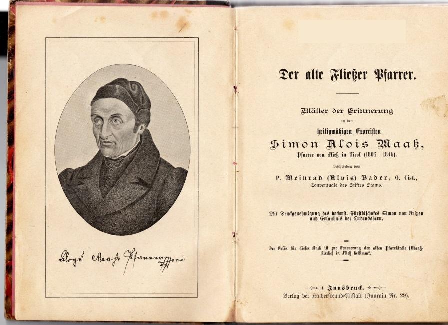 Der alte Fließer Pfarrer - Pfarrer von Fließ in Tirol -