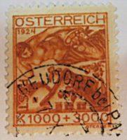 """Briefmarken Österreich 1924 - Jugendfürsorge """"notleidende Künstler"""""""