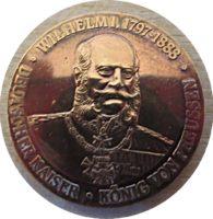 Medaille Wilhelm I. Deutscher Kaiser König von Preussen Dreikaiserjahr 1888