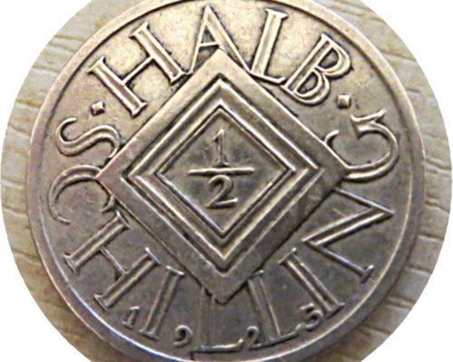 halber Schilling 1925 Silbermünze Österreich 1. Republik