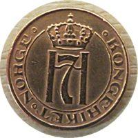 1 Öre 1936 Norwegen Münzen