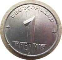 1 Pfennig A 1952 DDR Münzen