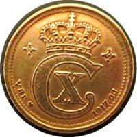 2 Oere 1917 Dänemark Münzen