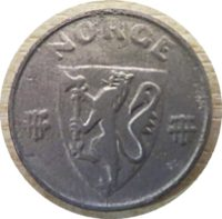 2 Öre 1944 Norwegen Münzen
