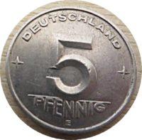 5 Pfennig E 1953 DDR Münzen