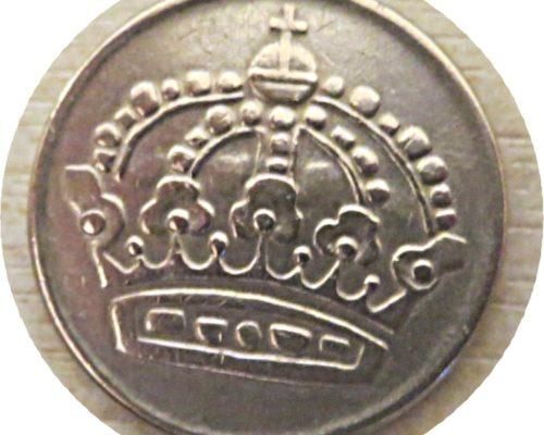 50 Öre 1954 Schweden Silbermünze