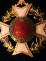 Exposition des Arts Bruxelles 1908 Verdienstorden  vergoldet