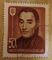 Landesverwaltungsabgabe 50 Schilling - Johann Josef Batlogg - Propaganda Marke