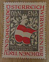 """Propagandamarke der ÖVP """"Österreich wir wollen dir dienen treu und ohne Ende"""""""