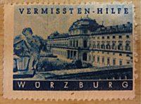 Vermissten Hilfe Würzburg - Vignette Reklamemarke