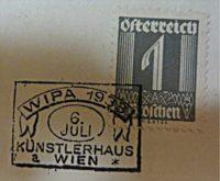 WIPA Poststempel 1933 - 1 Groschen Briefmarke Österreich