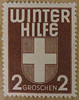 Winter Hilfe 2 Groschen - Propaganda Marke