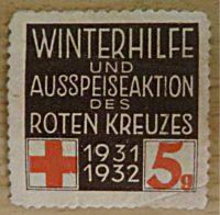 Winterhilfe und Ausspeiseaktion des roten Kreuzes 5 Groschen - Propagandamarke