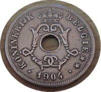 10 Centimes 1904 Belgien Münzen