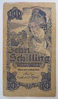 10 Schilling 1945 Banknote Österreich II. Republik