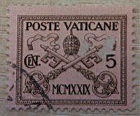 Vatikan Briefmarken 1929
