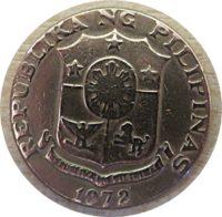 50 Sentimos 1972 Philippinen Münzen