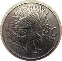 50 Sentimos 1985 Philippinen Münzen