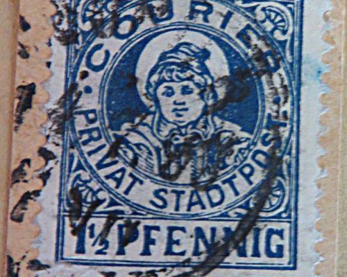 Courier Privat Stadtpost 1,5 Pfennig - Privatpost Alt-Deutschland