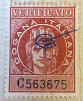 Zollmarke Italien - Dogana italiano verificato