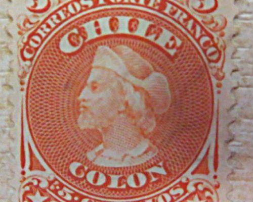 5 centavos 1867 Christoph Columbus Briefmarken Chile