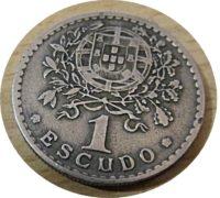 1 Escudo 1945 Portugal Münzen