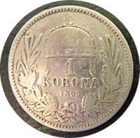 1 Korona 1893 Kaiser Franz Josef I. Silber Münze Österreich- Ungarn
