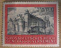 10+10 Zloty Grossdeutsches Reich Generalgouvernement Briefmarken Deutschland