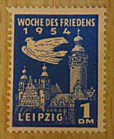 1 DM 1954 Spendenmarke / Propaganda Marke des Friedensrat der DDR