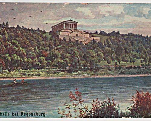 Walhalla bei Regensburg 1923 Postkarte Deutschland