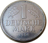 1 DM  J 1956 Deutschland Münzen german coins