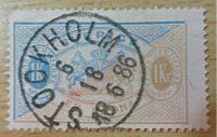 1 Krone Dienstmarke Schweden 1886 / 4 Oere Dienstmarke Schweden 1896