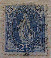 stehende Helvetia Schweiz Briefmarken