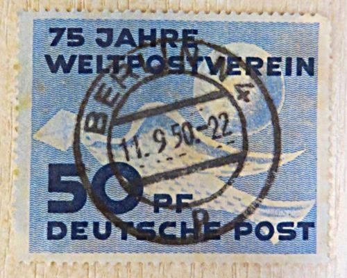 50 Pfennig 75 Jahre Weltpostverein DDR Briefmarke 1949