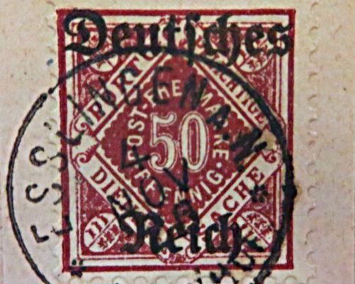 Dienstmarken von Württemberg 1920  deutsches Reich