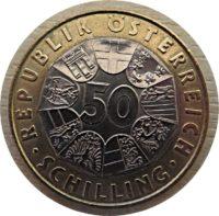 50  Schilling 1998 Gedenkmuenze Konrad Lorenz - Oesterreich Muenzen