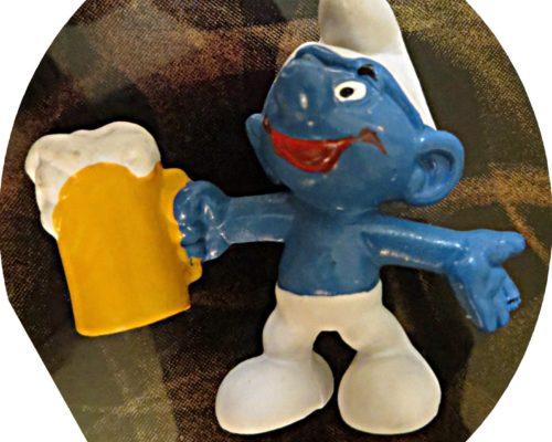 Bier Schlumpf Schleich 1974 - Schlumpf mit Bierkrug
