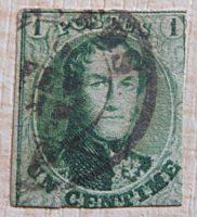 1 Centime Leopold I. Belgien Briefmarken