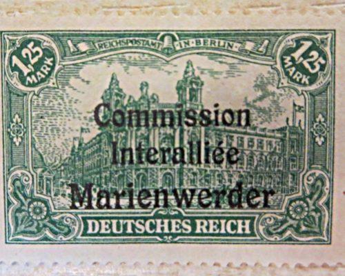 3 Mark Plebische Olsztyn Allenstein / 2,5 Mark Vertrag Versailles / 1,25 Mark Commission Interalliee Marienwerder