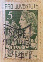 Helvetia 1913 Matterhorn Briefmarken Schweiz