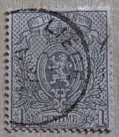 1 Centime 1866 Belgien Briefmarken