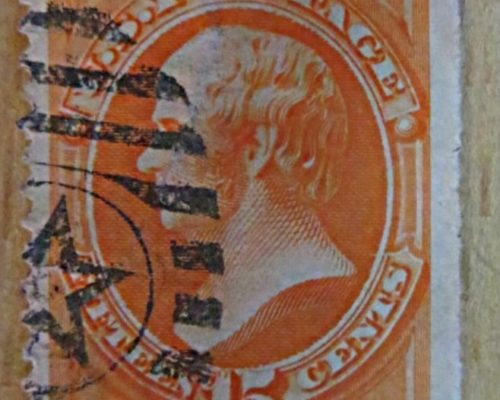 15 c Webster Daniel   1875 orange USA Briefmarken US stamps