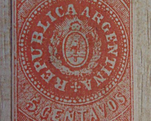 5 Centavos 1862 Argentinien Briefmarken