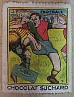 Suchard chocolat Football Vignette Reklame Briefmarke